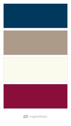 Navy, Ashwood, Ivory, and Burgundy Wedding Color Palette - custom color palette created at MagnetStreet.com