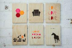 Kristina J. DIY Ideas | DIY Style: LOVE THAT | PLYWOOD ART DIY INSPIRATION