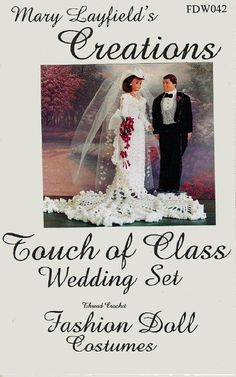 Free Copy of Crochet Pattern - Touch of Class Wedding Set