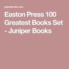 Easton Press 100 Greatest Books Set - Juniper Books