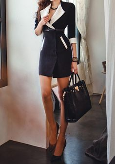 Black Trench Coat - Non Stretchable Outfit