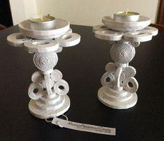 Candelieri realizzati con cannucce di carta - #Candelieri #cannucce #carta #con #di #realizzati