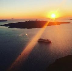 Santorini- Enjoy every sunset....look forward to every sunrise #ReasonsToCruise