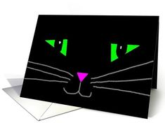 Black Cats card: Halloween kitty Greeting Card