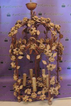 Vintage Floral Iron Birdcage Chandelier Lantern Hanging Lighting Pendant Lamp Birdcage, Chandelier, Cake, Desserts, Ebay, Vintage, Food, Tailgate Desserts, Candelabra
