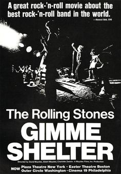 Gimme Shelter Documentary Ad  This is the best Stones song EVER!!!