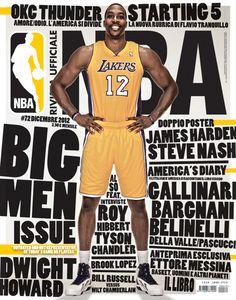 Love, love the type around the body  Rivista NBA / Covers 2012-13 by Francesco Poroli, via Behance
