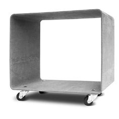 Cement side table on castors ANTHONY http://www.das-rote-paket.de/en/products_shop_area/detail/22-0-15.side_table_anthony.html#