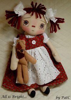 Raggedy Doll Mandy by Allisbright on Etsy, $39.00