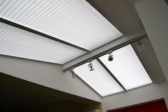 Pleated roof blinds....