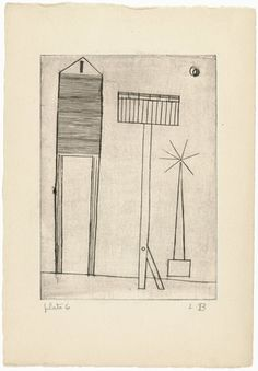 Louise Bourgeois. Untitled, plate 6, third version, state III, variant, from He Disappeared into Complete Silence. (1946-47)