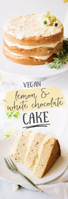 Vegan Elderflower Cake with Lemon Curd & White Chocolate Frosting (vegan sweets dairy) Coconut Dessert, Oreo Dessert, Brownie Desserts, Just Desserts, Party Desserts, Pudding Desserts, Vegan Treats, Vegan Foods, Healthy Treats