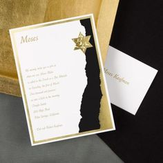 Black and Gold Bar Mitzvah Invitations by Invitation Duck