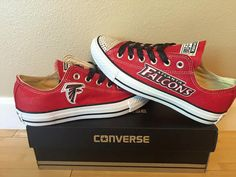 Glitter Bling Atlanta Falcons Converse by on Etsy Atlanta Falcons Rise Up, Atlanta Falcons Memes, Atlanta Georgia, Falcons Gear, Falcons Football, Home Team, Nice Clothes, Football Season, Shoe Game