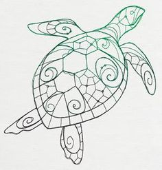 shapes turtle coloring pages - photo#43
