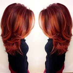 this vibrant firey red look was made with Redken City Beats color by glossy hair balayage color melt haircolor inspiration red hair copper hair Red Balayage Hair, Copper Balayage, Balayage Color, Copper Ombre, Auburn Balayage, Cheveux Oranges, Red Hair Color, Red Color, Copper Hair Colors