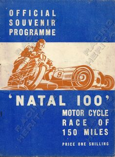 1940 Natal 100 Official Souvenir Programme.  In good condition for year pages yellowed with age and slight rust on staples.  Price $45