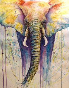 beautiful elephant painting