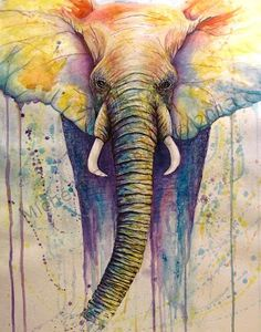beautiful elephant painting