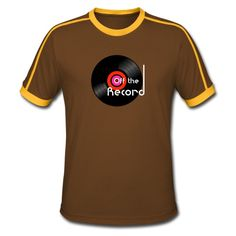 Off the Record - Men's Retro T-Shirt. Dj Music, Cool Tees, Streetwear, Gift Ideas, Guys, Retro, T Shirt, Design, Fashion