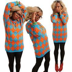 ♥KOOKY cool preppy diamond Plaid Tartan OVERSIZED Vintage  Jumper Sweater Tartan, Plaid, Vintage Jumper, Vintage Outfits, Vintage Fashion, South London, Fashion Videos, 1990s, Preppy
