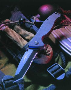 "Emerson SOCFK-BT Folding Knife 3.375"" Black Plain Tanto Blade with Wave, G10 Handles"