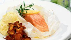 Mat, bak & recept | Starwoman | Laxpaket med potatispuré och kantareller