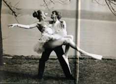 "Mikhail Baryshnikov and Uma Thurman in 'The Swan Prince' book, 1987. Photographer: Arthur Elgort.  ""And they both danced happily ever after."""