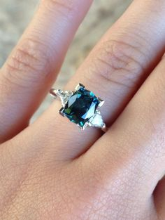 Beautiful Montana Sapphire engagement ring.  m.facebook.com/… | Gems Gallery