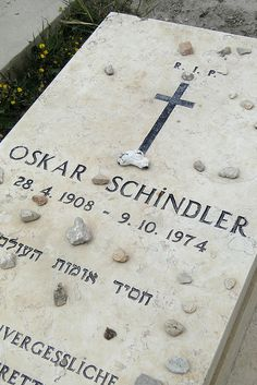Grave of Oskar Schindler - Old City of Jerusalem