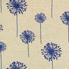 Dandelion Peacock Blue/Denton by Premier Prints - Drapery Fabric