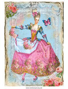 Sheet page antoinette   ~Marie Antoinette   Nostalgie & Brocante