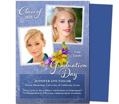 Applause Graduation Announcement Invitation Template