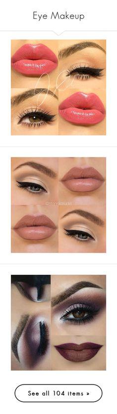 """Eye Makeup"" by deborah-97 ❤ liked on Polyvore featuring beauty products, makeup, eye makeup, eyes, lips, eye brow makeup, liquid eyeliner, eyebrow cosmetics, liquid eye liner and eyebrow makeup"