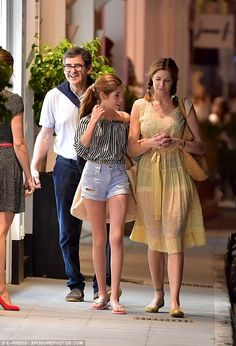 Family trip: Stephanie Seymour was spotted holidaying in St. Barts with her family on Wednesday, strolling along with her daughter Lily, and her husband Peter Brant, 69 Paulina Porizkova, Stephanie Seymour, Bridesmaid Dresses, Wedding Dresses, Celebs, Celebrities, Beautiful Couple, Celebrity Crush, Nice Tops