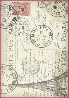 Vintage Postcard ~ Manufaktura Dobrych Klimatów - Papiery do decoupage