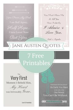 Jane Austen Free Printable Quotes
