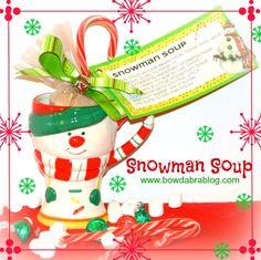 Handmade Christmas Gift Snowman Soup