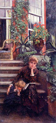 La Soeur Ainée (The Elder Sister), 1881. James Tissot(French, 1836-1902). Oil on panel.