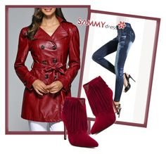 """Clothe leather coat  was always cool"" by dzemila-c ❤ liked on Polyvore featuring sammydress"