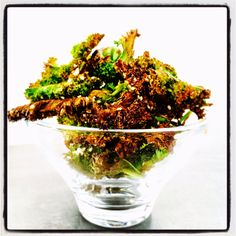 One of my fav snacks, great just to bung into the oven if it has been on or put them under the grill. These lovely little snacks only take m. Kale Chips, Japchae, Grilling, Coconut, Herbs, Snacks, Ethnic Recipes, Life, Food