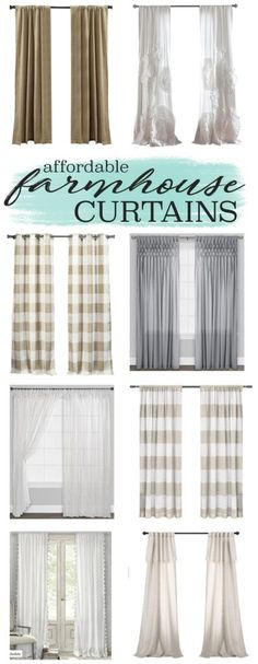Transitioning to Farmhouse Style Shopping Guide in 2018 ... on Farmhouse Bedroom Curtain Ideas  id=16960