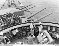 HMAS Australia, September 1944. The ship survived what may have been the first kamikaze attack of the war on 21 October.