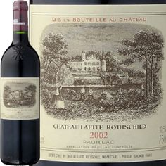 Chateau Lafite Rothschild premier Grand Cru Classé Grand Vin Bordeaux 1982 et 1996.