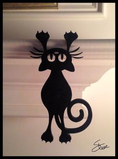 Scrollsaw Workshop: Hanging Black Cat Scroll Saw Pattern.