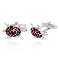 Silver Tone and Enamel Sea Turtle Cufflinks Carapace, Turtle, Cufflinks, Sea, Accessories, Turtles, Tortoise Turtle, Ocean, Wedding Cufflinks