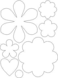 30 Images of Felt Flower Template Felt Flowers, Diy Flowers, Fabric Flowers, Paper Flowers, Felt Patterns, Applique Patterns, Flower Patterns, Flower Pattern Drawing, Applique Templates