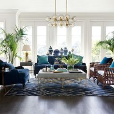 Williams-Sonoma Home has gorgeous pieces to help turn your living room into an HGTV after photo. 29 Of The Best Places To Buy A Sofa Online Navy Living Rooms, Coastal Living Rooms, Formal Living Rooms, Living Room Sets, Home Living Room, Living Room Designs, Living Room Furniture, Living Room Decor, Blue And Green Living Room