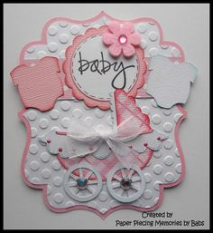 Baby Girl Tag Premade Paper Pieced Embellishments for your scrapbook pages. Each piece cut and hand detailed, using only top quality materials. I accept Paypal only as form of payment and ship USPS First Class Mail upon receipt of payment. I do combine shipping on items purchased the same day. Patterns by LSHD, TBD, KBD, MSC, or CCD.