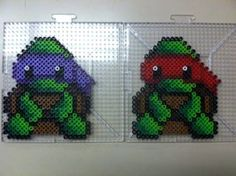 TMNT Raphael and Donatello Perler bead by Khoriana